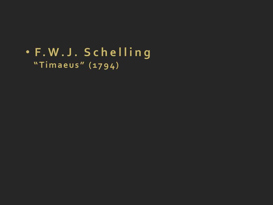F.W.J. Schelling Timaeus (1794)