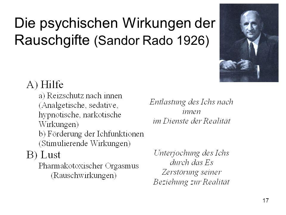 Die psychischen Wirkungen der Rauschgifte (Sandor Rado 1926) 17