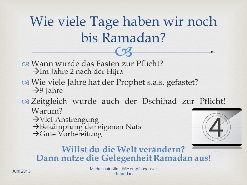 Allah (s) sagt: Oh die ihr glaubt euch ist das Fasten vorgeschrieben so wie es denen vor euch vorgeschrieben war, damit ihr gottesfürchtig werdet.