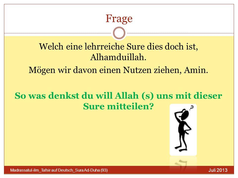 Zusammenfassung Allah (s) ist immer bei dir.Bleib stark und du wirst von den Gewinnern sein.