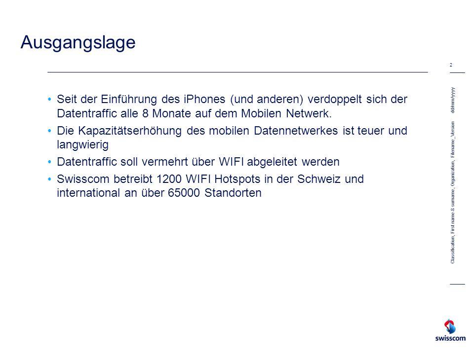 dd/mm/yyyy 2 Classification, First name & surname, Organization, Filename_Version Ausgangslage Seit der Einführung des iPhones (und anderen) verdoppel