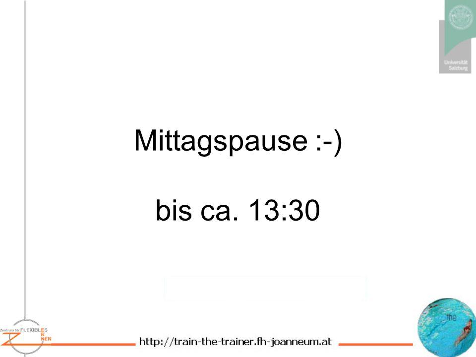 Mittagspause :-) bis ca. 13:30