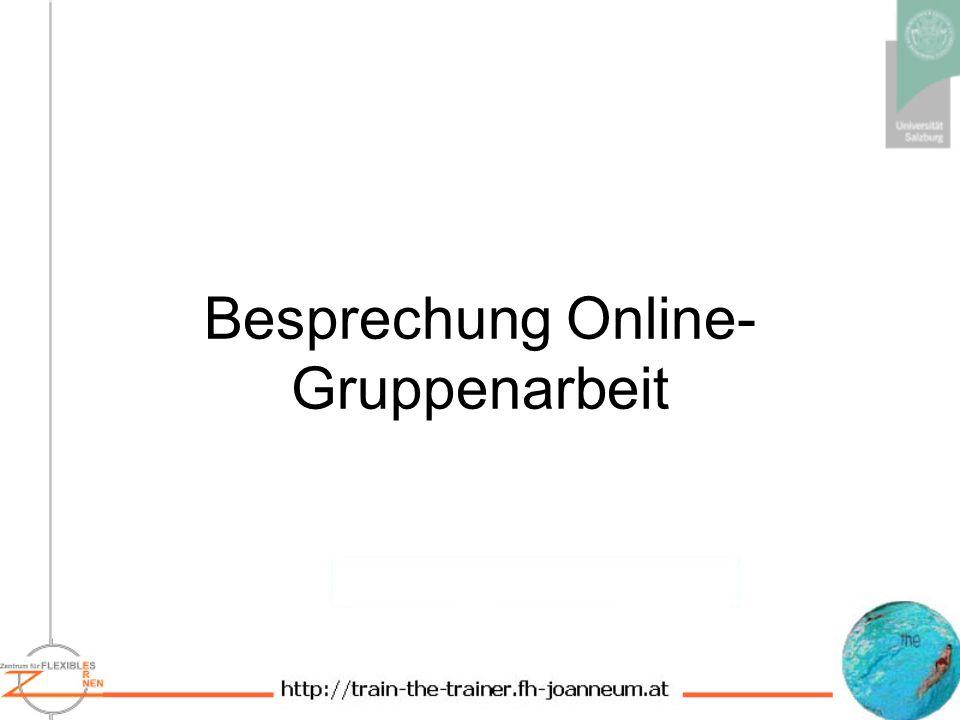 Besprechung Online- Gruppenarbeit