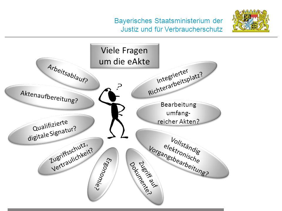 Bayerisches Staatsministerium der Justiz und für Verbraucherschutz Qualifizierte digitale Signatur? Arbeitsablauf? Zugriff auf Dokumente? Zugriffsschu