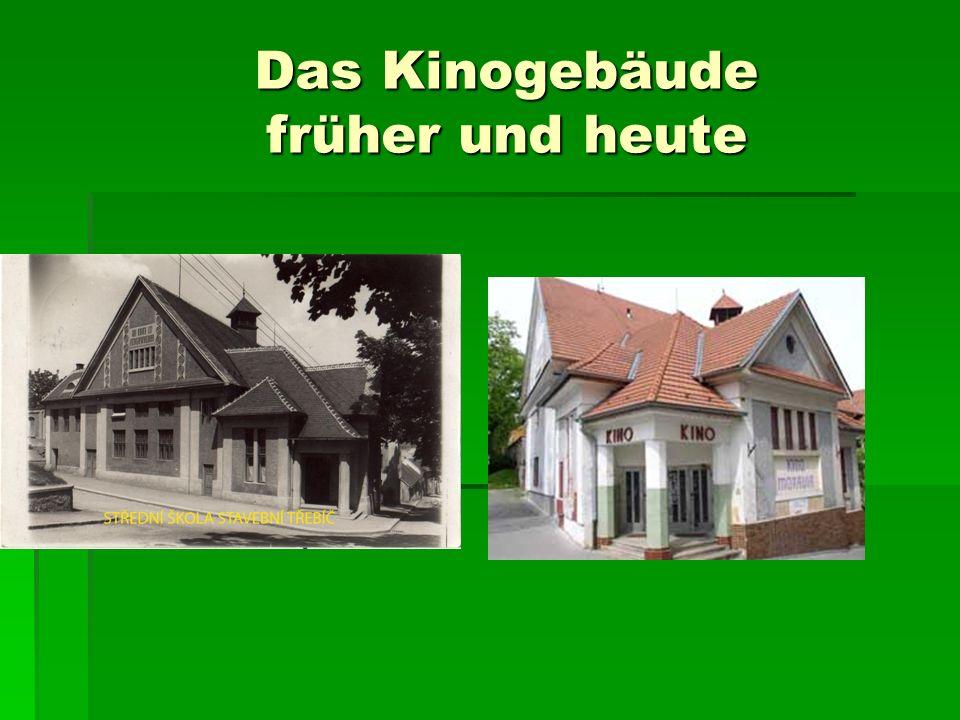 Das Kinogebäude früher und heute