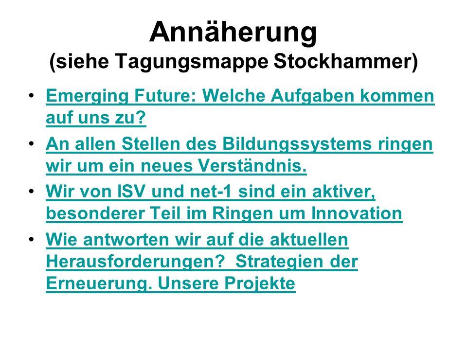 Annäherung (siehe Tagungsmappe Stockhammer) Emerging Future: Welche Aufgaben kommen auf uns zu?Emerging Future: Welche Aufgaben kommen auf uns zu.