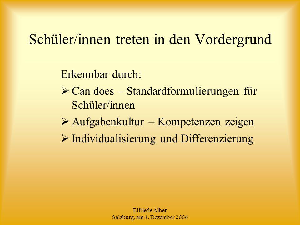 Elfriede Alber Salzburg, am 4.