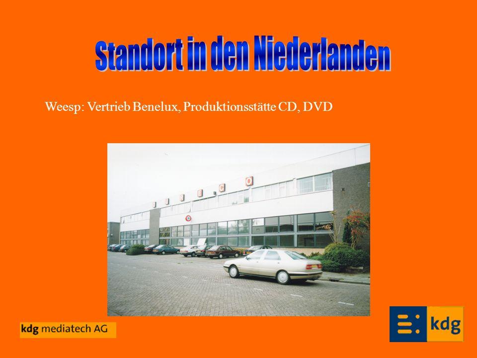 Weesp: Vertrieb Benelux, Produktionsstätte CD, DVD