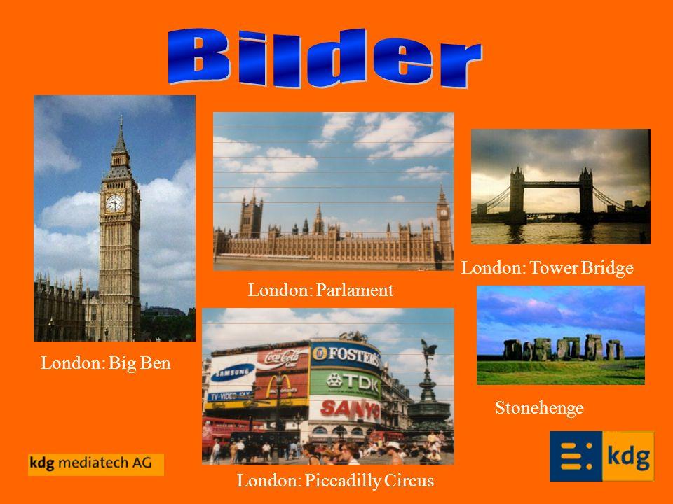 London: Big Ben London: Tower Bridge London: Parlament London: Piccadilly Circus Stonehenge