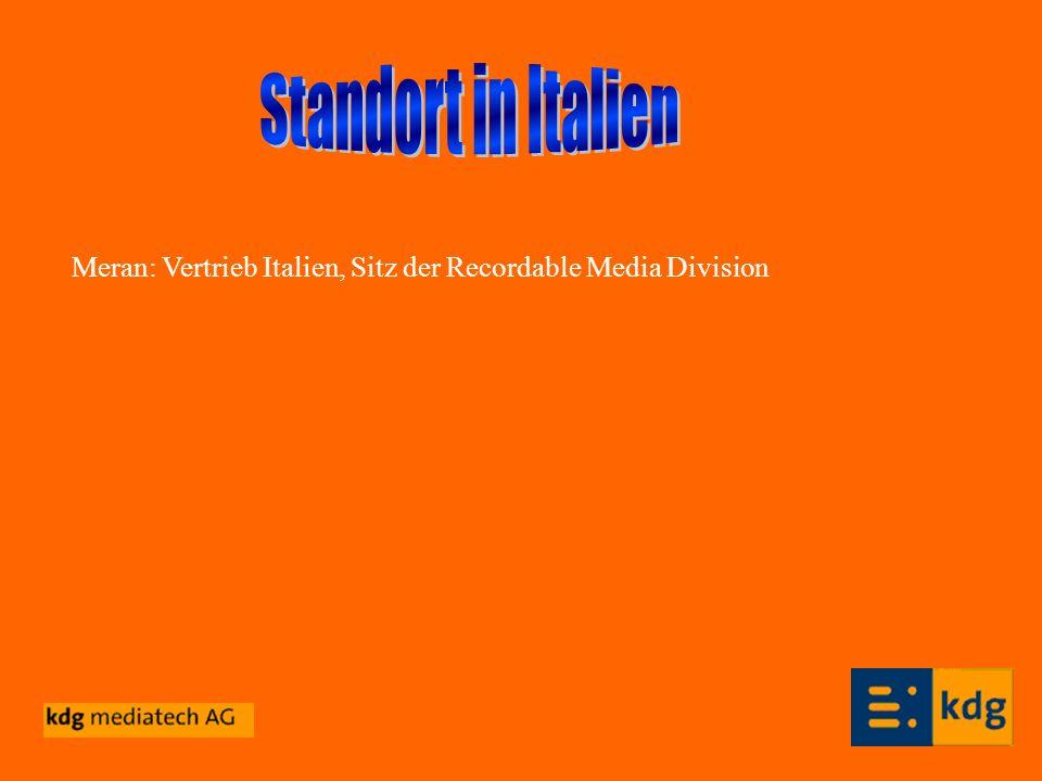Meran: Vertrieb Italien, Sitz der Recordable Media Division