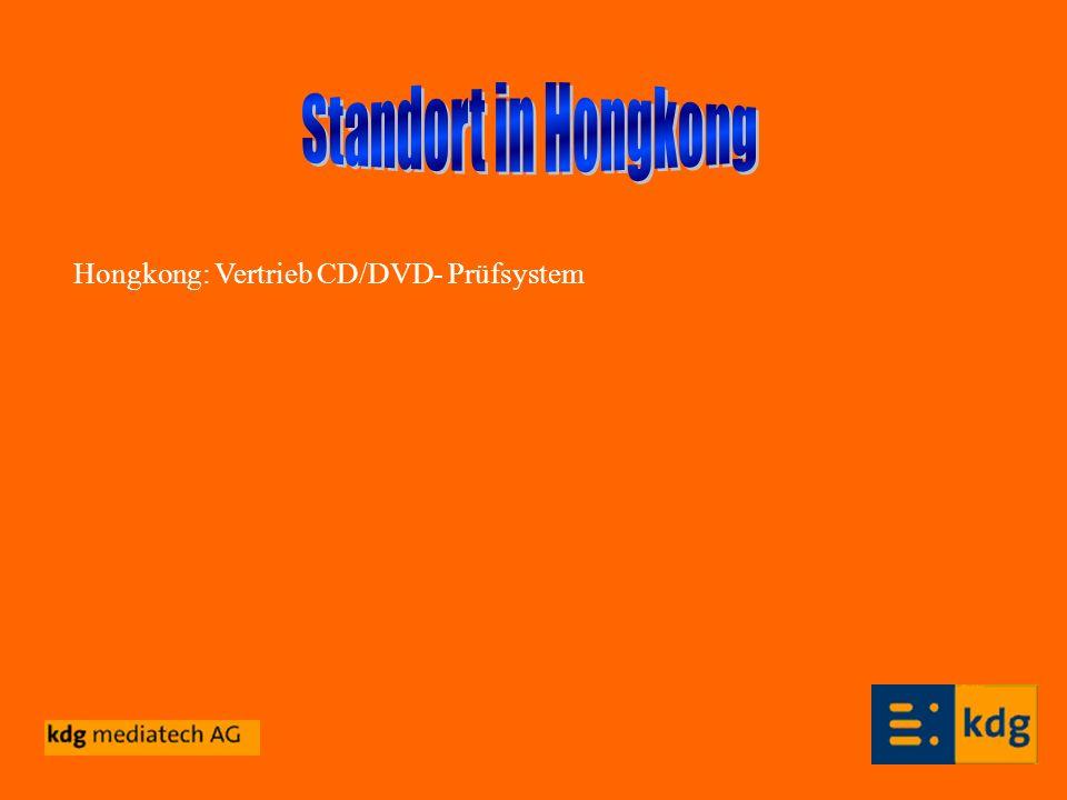 Hongkong: Vertrieb CD/DVD- Prüfsystem