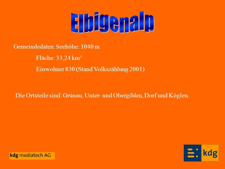 Gemeindedaten: Seehöhe: 1040 m Fläche: 33,24 km² Einwohner 830 (Stand Volkszählung 2001) Die Ortsteile sind: Grünau, Unter- und Obergiblen, Dorf und K