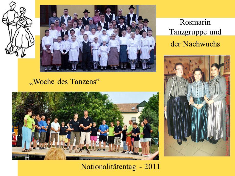 Rosmarin Tanzgruppe und der Nachwuchs Nationalitätentag - 2011 Woche des Tanzens
