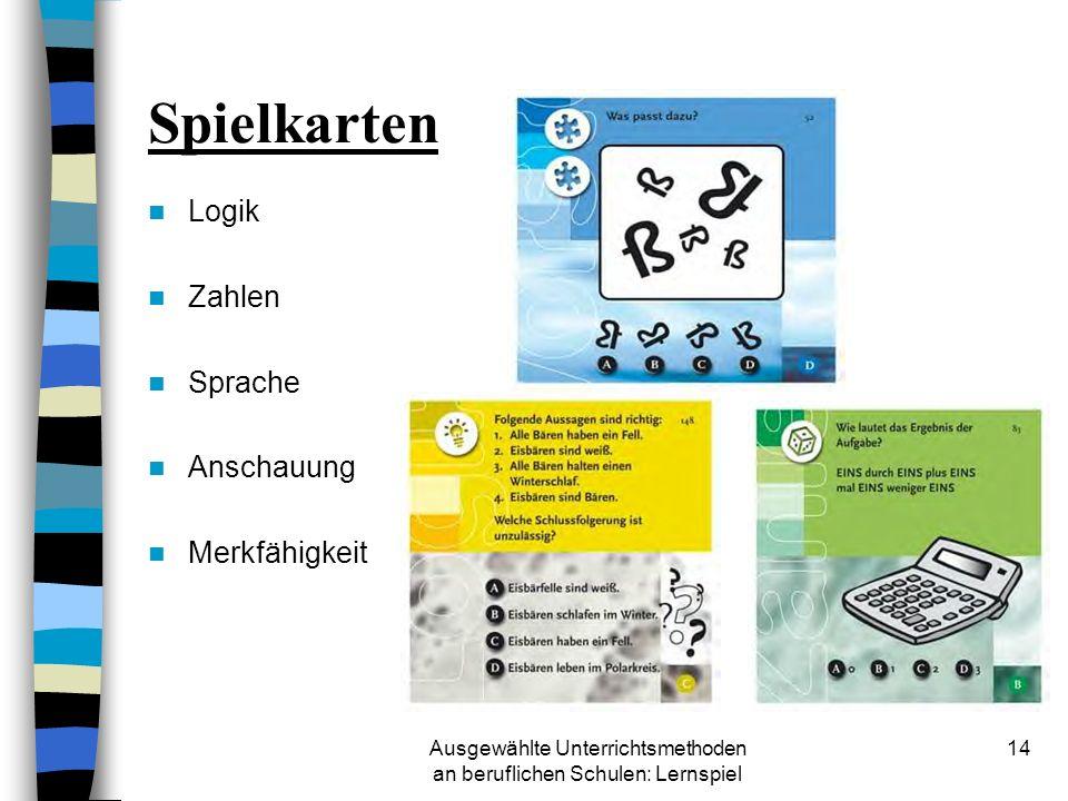 Ausgewählte Unterrichtsmethoden an beruflichen Schulen: Lernspiel 13 Lernspiele Ravensburger Think Logo Trainer: das knifflige Spiel mit Trainingseffe