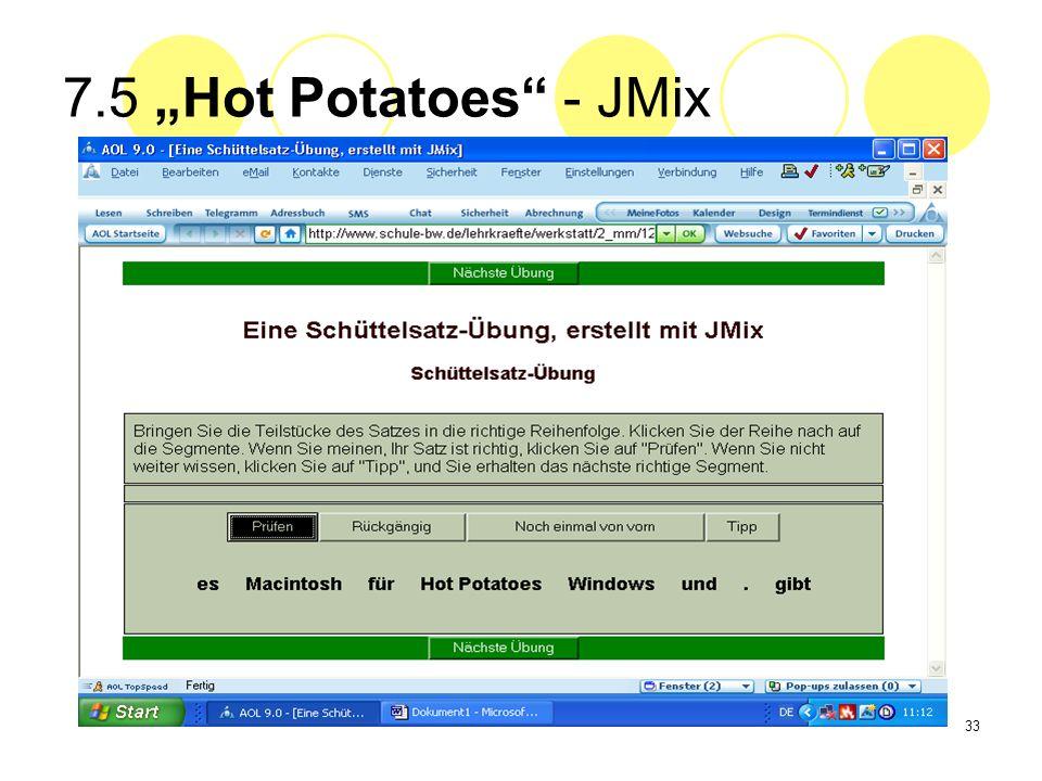 33 7.5 Hot Potatoes - JMix