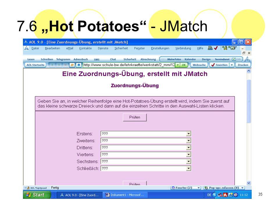 35 7.6 Hot Potatoes - JMatch