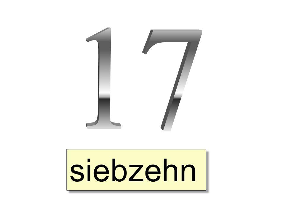 siebzehn