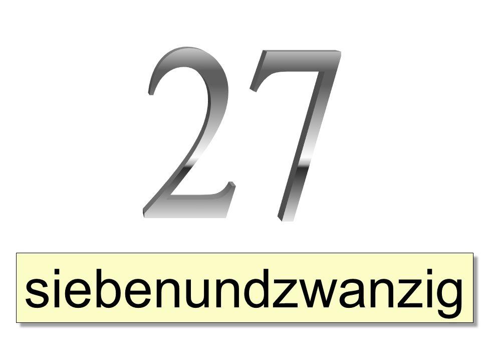 siebenundzwanzig