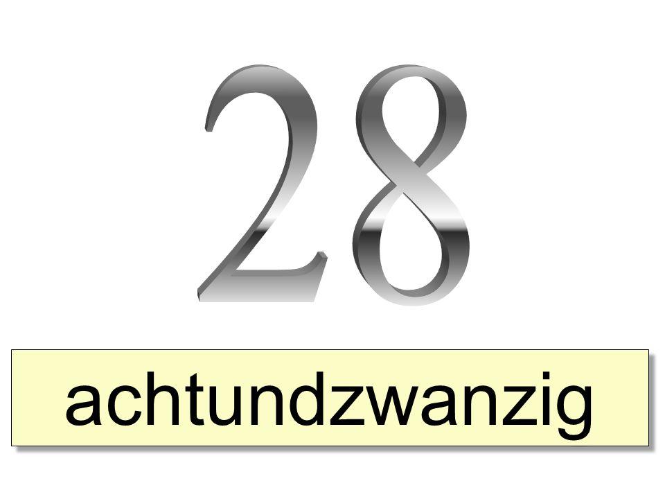 achtundzwanzig