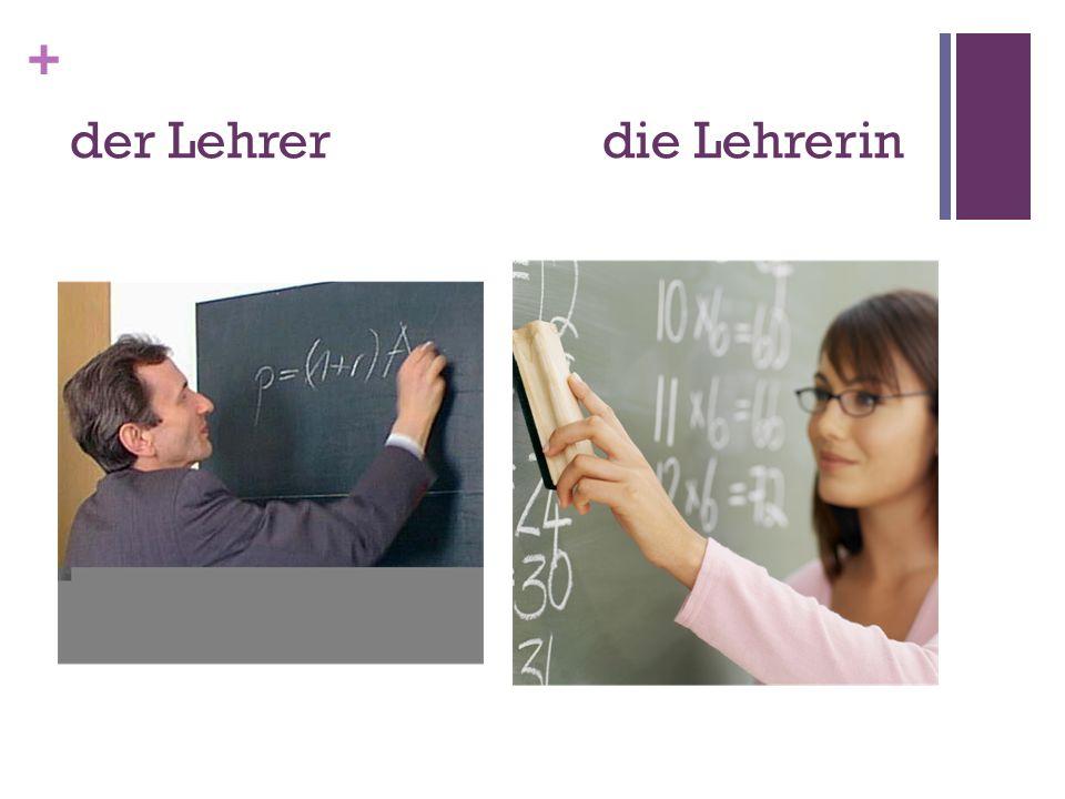 + der Lehrerdie Lehrerin