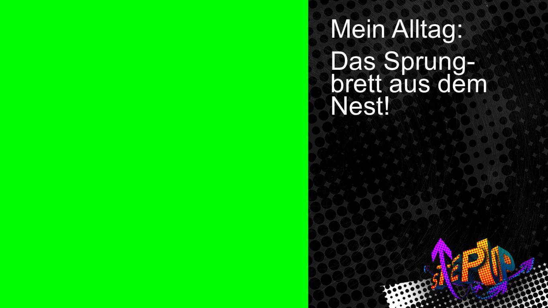 Mein Alltag Mein Alltag: Das Sprung- brett aus dem Nest!