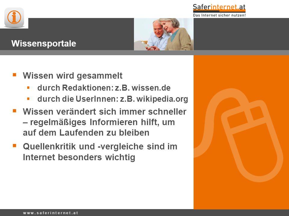 w w w. s a f e r i n t e r n e t. a t wissen.de Kategorien Werbung Allgemeinwissen www.wissen.de