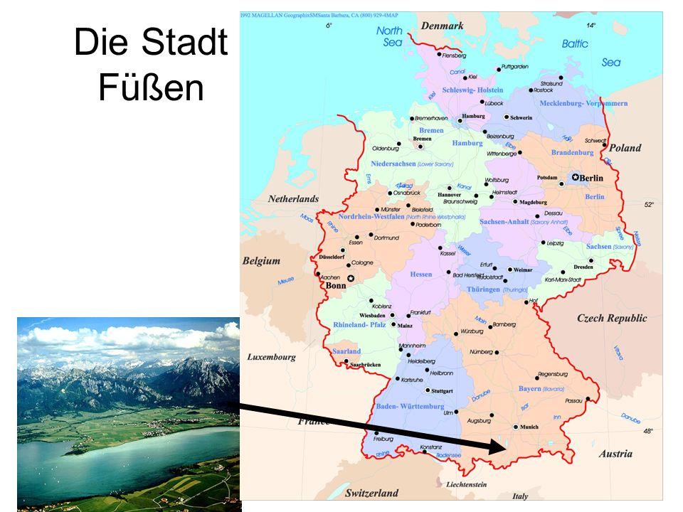 Die Stadt Füßen Neuschwanstein