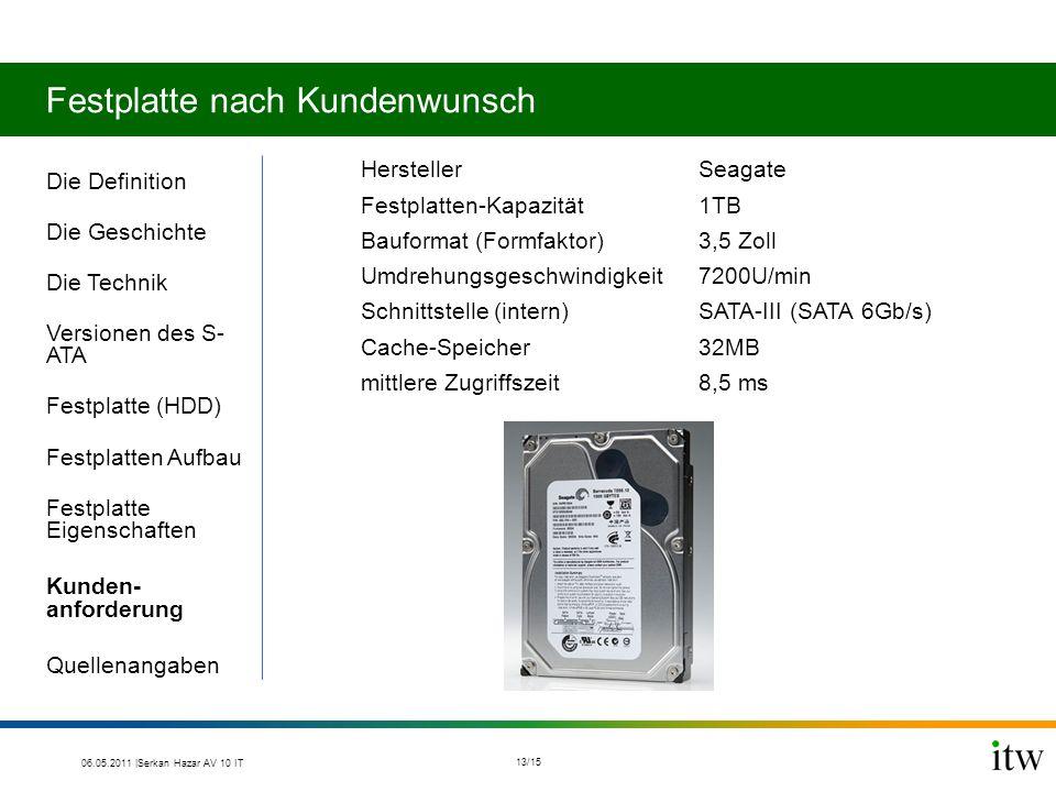 Festplatte nach Kundenwunsch HerstellerSeagate Festplatten-Kapazität1TB Bauformat (Formfaktor)3,5 Zoll Umdrehungsgeschwindigkeit7200U/min Schnittstell