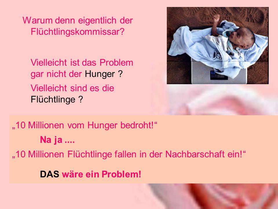 Warum denn eigentlich der Flüchtlingskommissar. 10 Millionen vom Hunger bedroht.