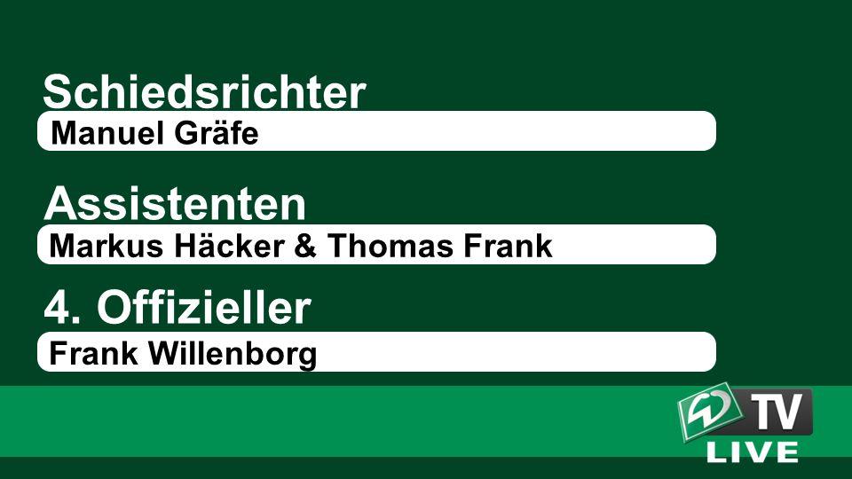 Schiedsrichter Assistenten Manuel Gräfe Markus Häcker & Thomas Frank 4. Offizieller Frank Willenborg