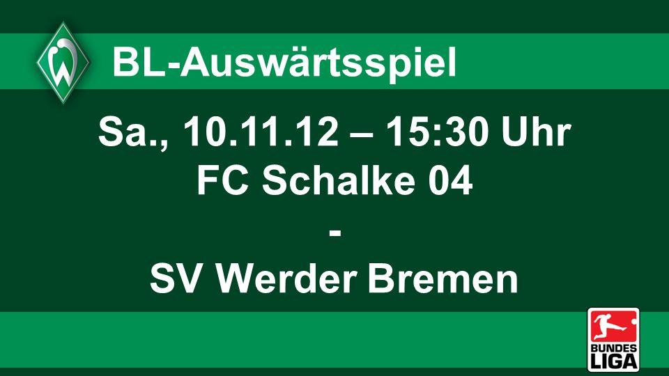 U23-Heimspiel Fr., 16.11.12 – 19:00 Uhr SV Werder Bremen U23 - VfB Oldenburg