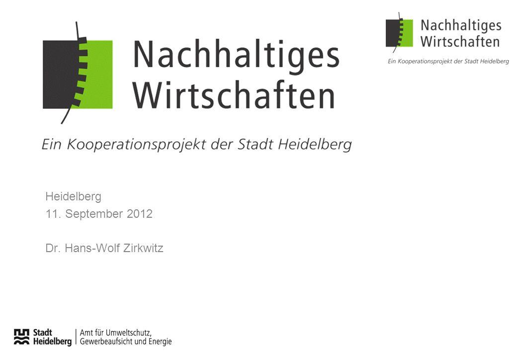 Heidelberg 11. September 2012 Dr. Hans-Wolf Zirkwitz