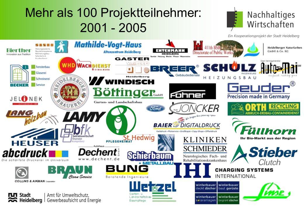 Mehr als 100 Projektteilnehmer: 2001 - 2005