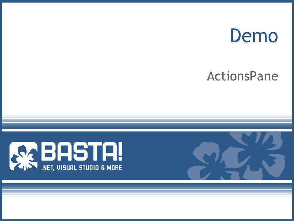 Demo ActionsPane