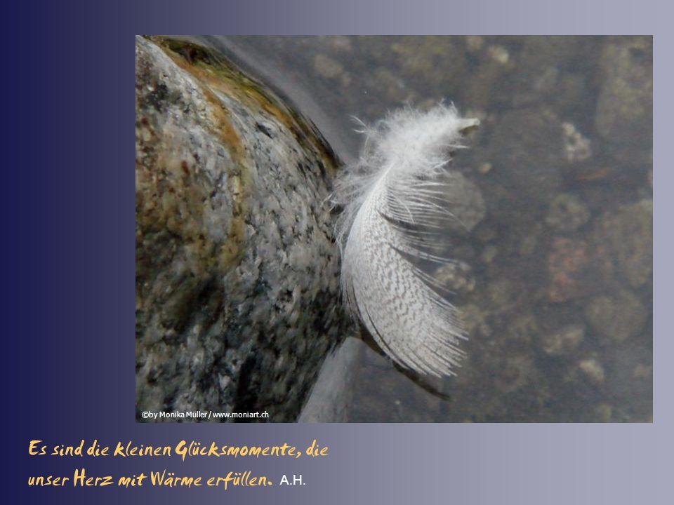 Wer die Kostbarkeit des Augenblicks entdeckt, findet das Glück des Alltags. A.H. ©by Monika Müller / www.moniart.ch