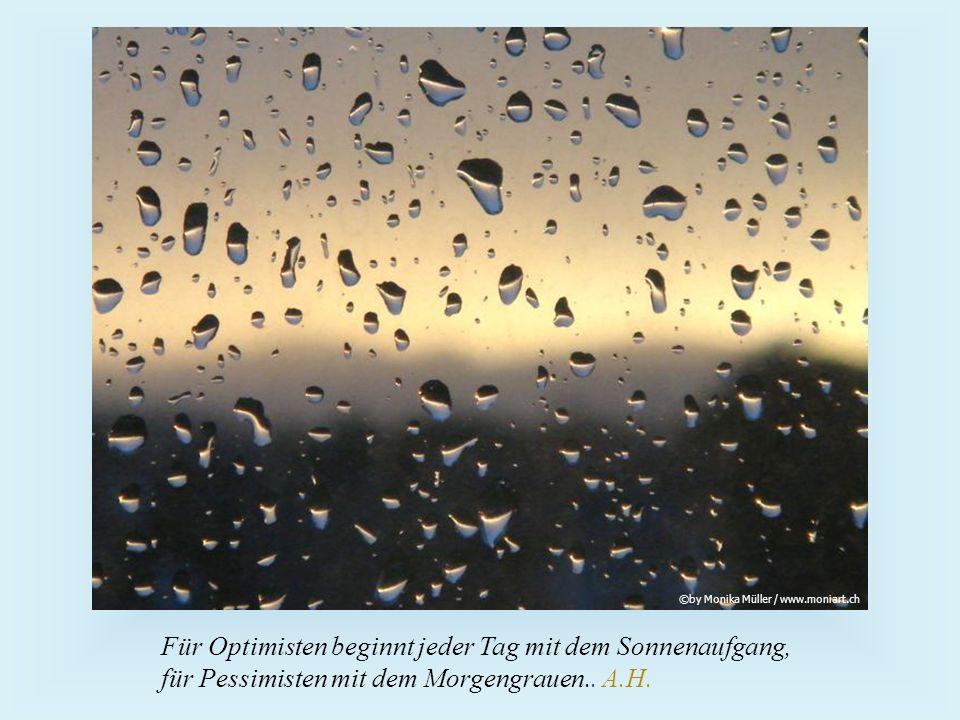 Für Optimisten beginnt jeder Tag mit dem Sonnenaufgang, für Pessimisten mit dem Morgengrauen..