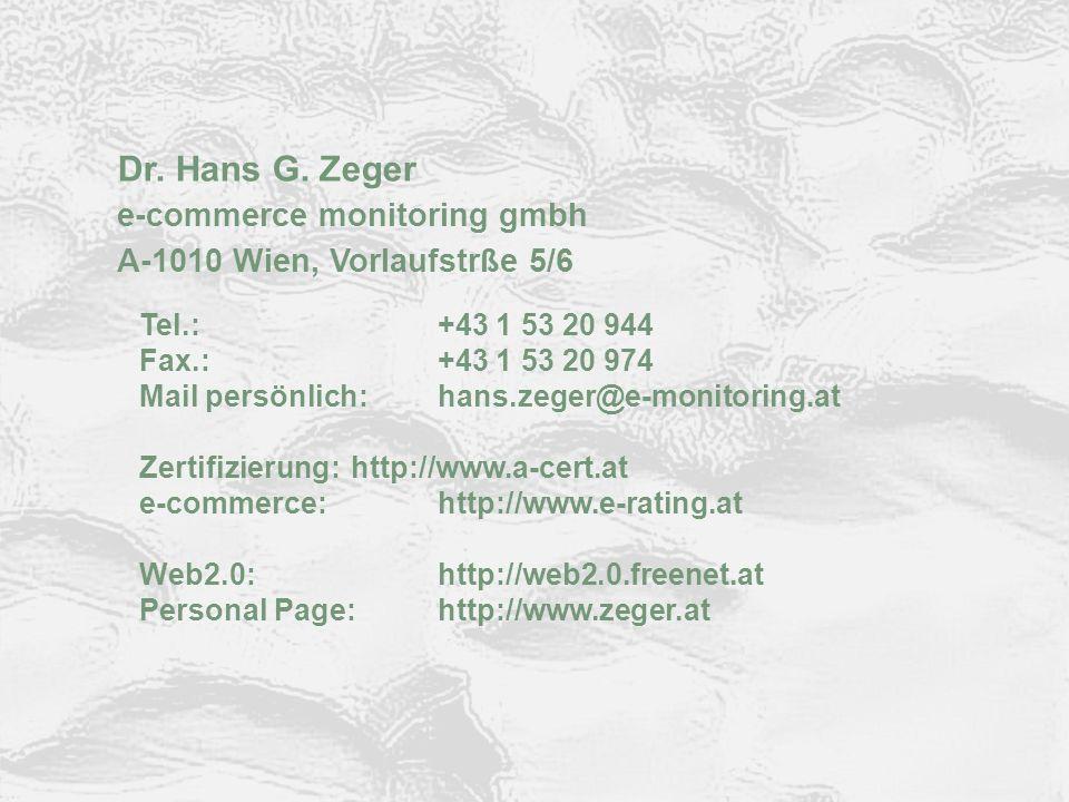 © ARGE DATEN 2012 ARGE DATEN Kontakt Dr. Hans G. Zeger e-commerce monitoring gmbh A-1010 Wien, Vorlaufstrße 5/6 Tel.:+43 1 53 20 944 Fax.:+43 1 53 20