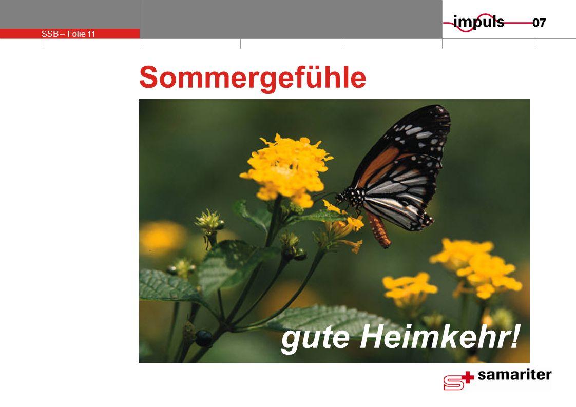 SSB – Folie 11 Sommergefühle gute Heimkehr!