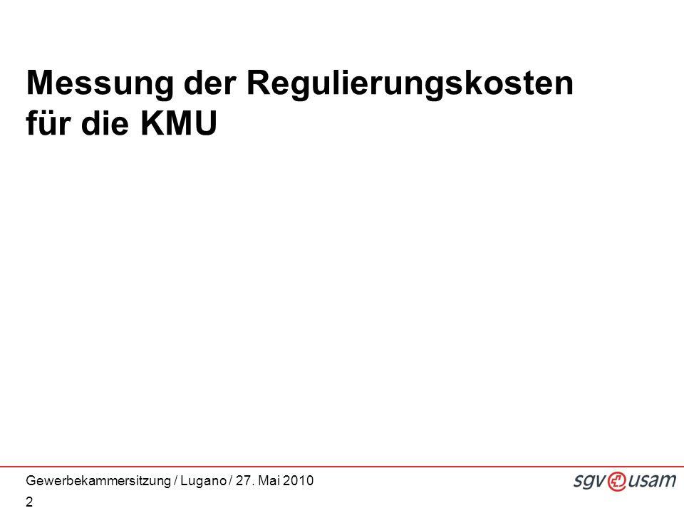 Messung der Regulierungskosten für die KMU 2
