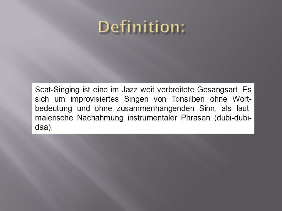 Die Klanggestalt der Silbenfolgen ergibt sich aus dem Gefühl des improvisierenden Interpreten.