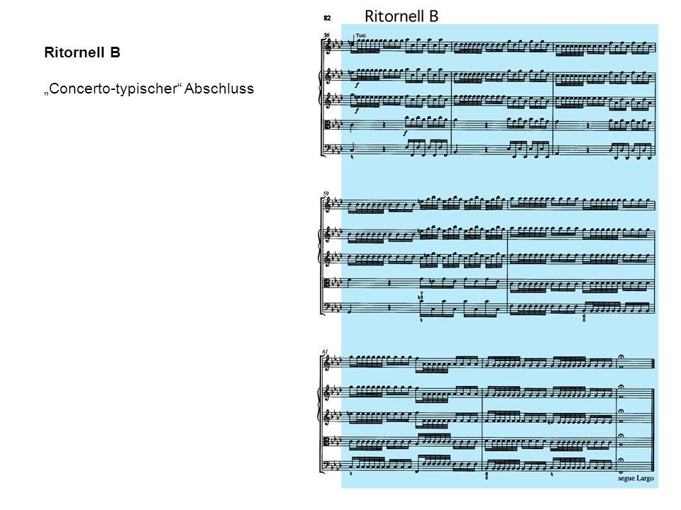Ritornell B Concerto-typischer Abschluss