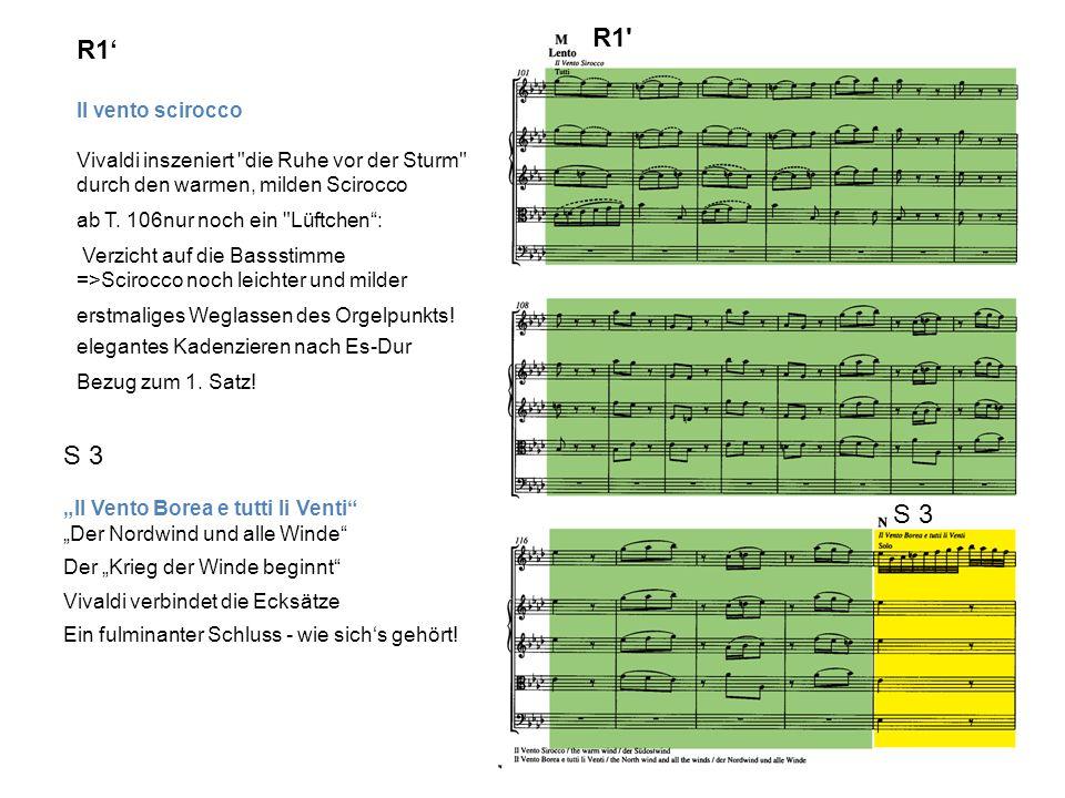R1 Il vento scirocco Vivaldi inszeniert die Ruhe vor der Sturm durch den warmen, milden Scirocco ab T.