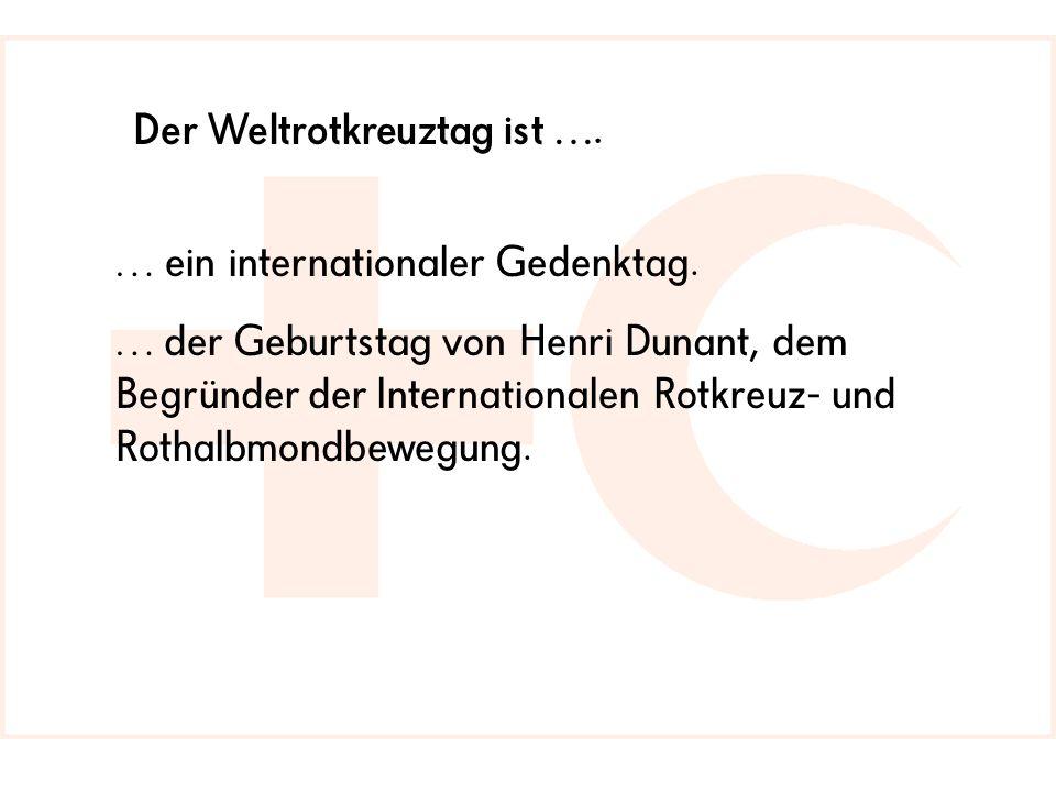 … ein internationaler Gedenktag.