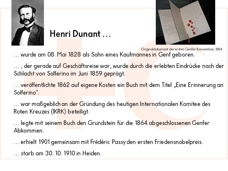 … wurde am 08.Mai 1828 als Sohn eines Kaufmannes in Genf geboren.