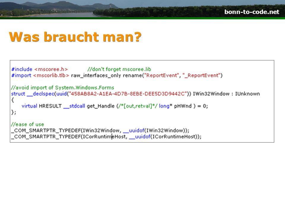 bonn-to-code.net.NET Runtime starten