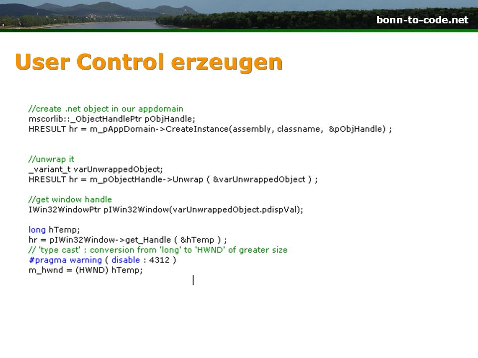 bonn-to-code.net User Control erzeugen