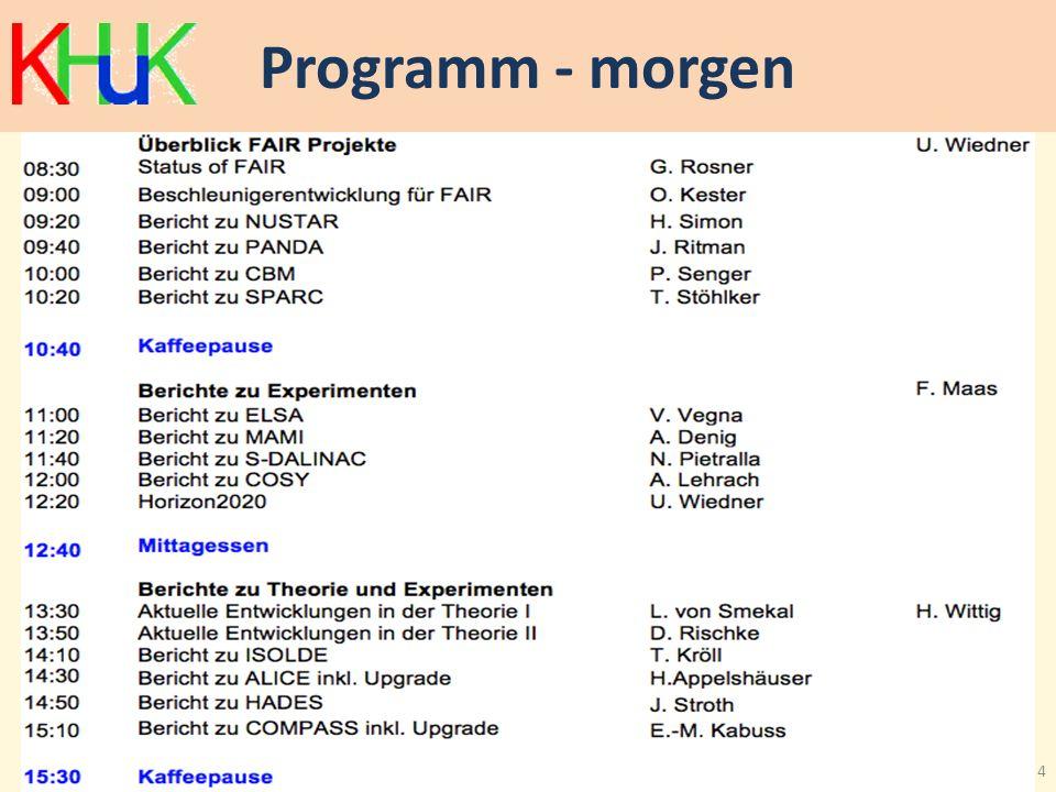 Programm - morgen 4