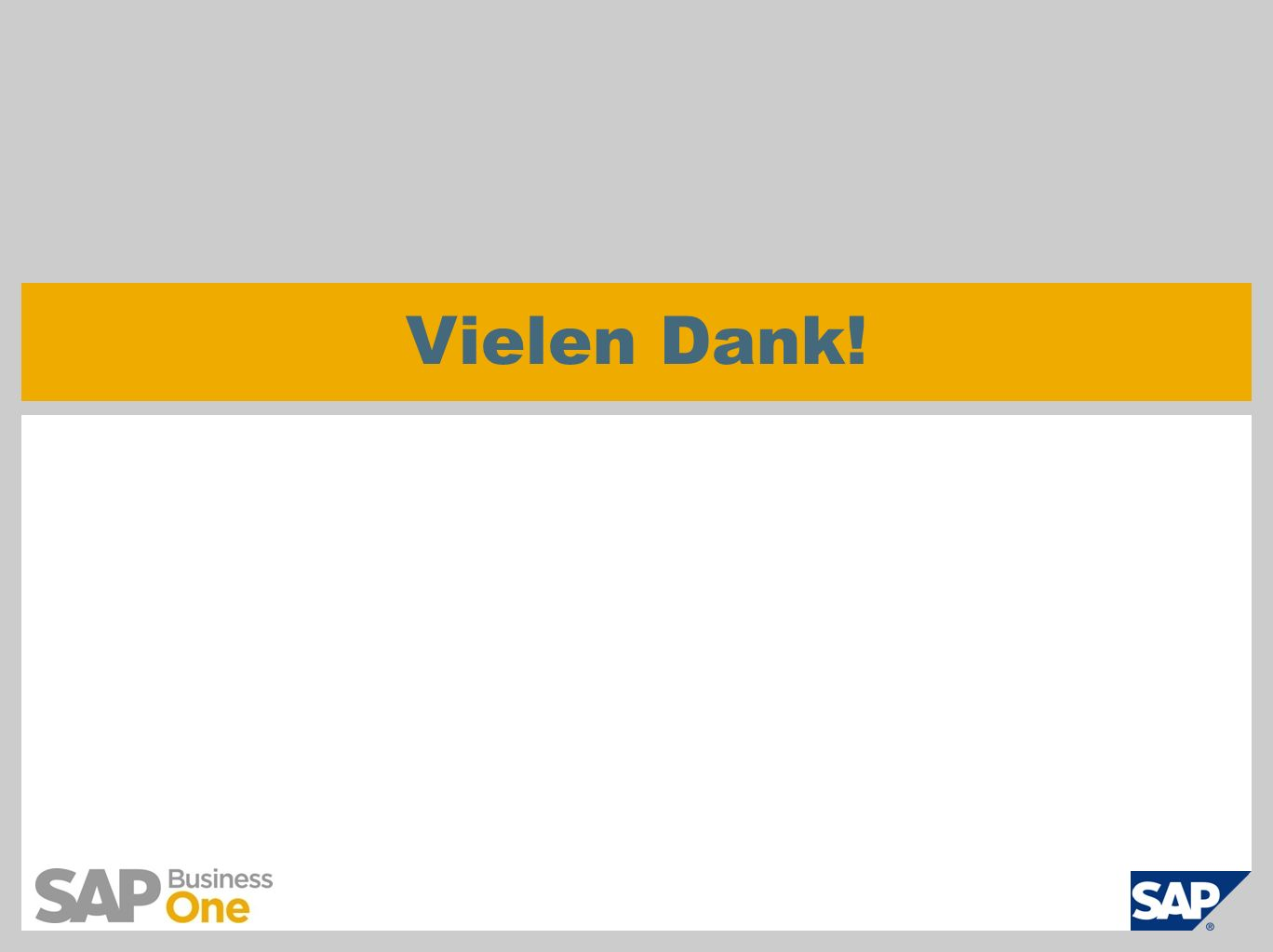 SAP AG 2011, Introduction to SAP Business One 8.8, GTM Rollout Services Page 31 Vielen Dank!
