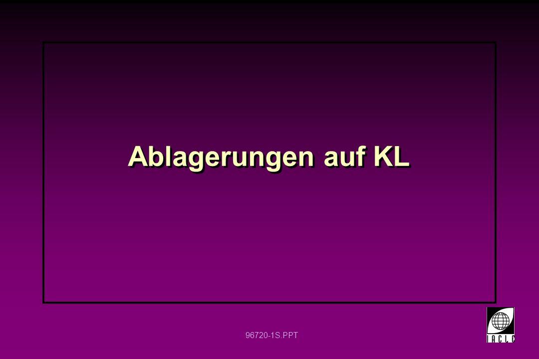 96720-42S.PPT Begünstigende Faktoren Unsachgemäße KL-Pflege, z.B.