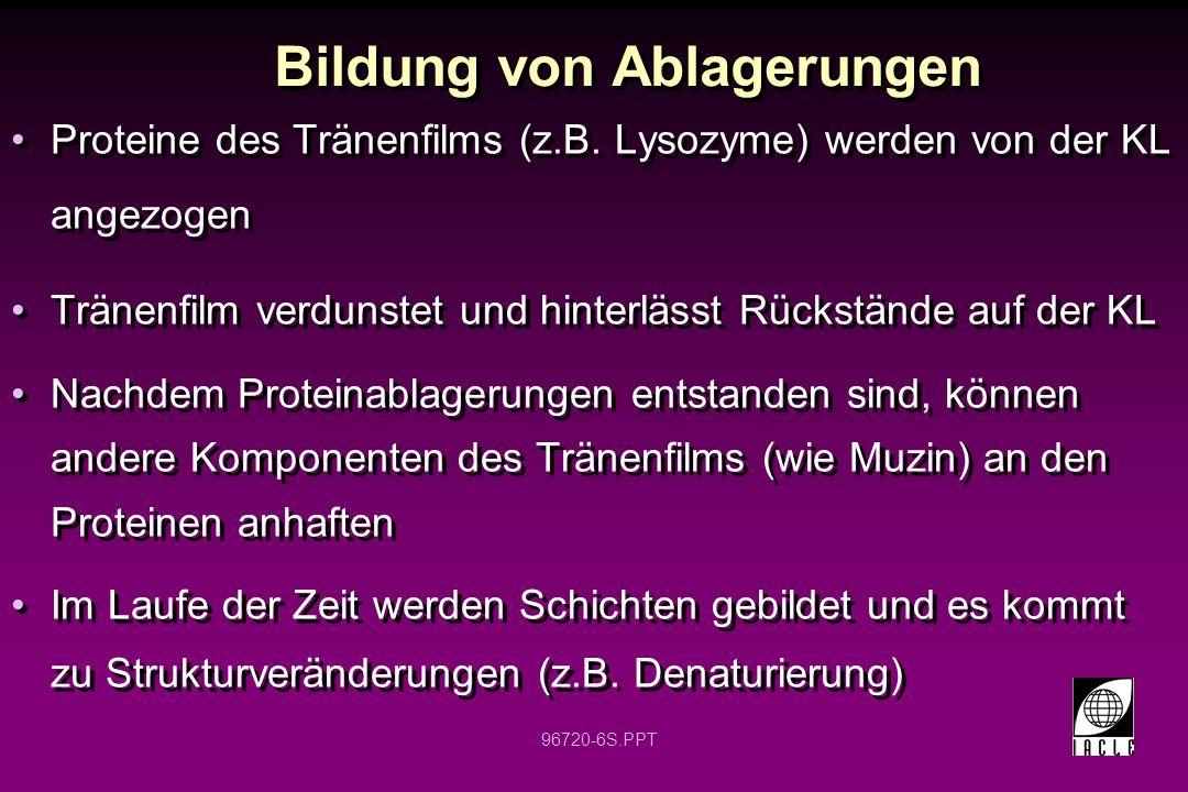 96720-6S.PPT Bildung von Ablagerungen Proteine des Tränenfilms (z.B.